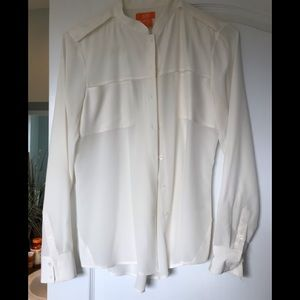 Joe Fresh cream 100% silk blouse